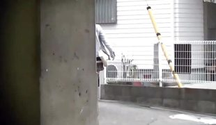 Japanese shadowy pisses overhead hammer away streets